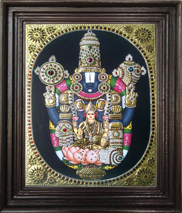 Balaji with Lakshmi tanjore art gallery