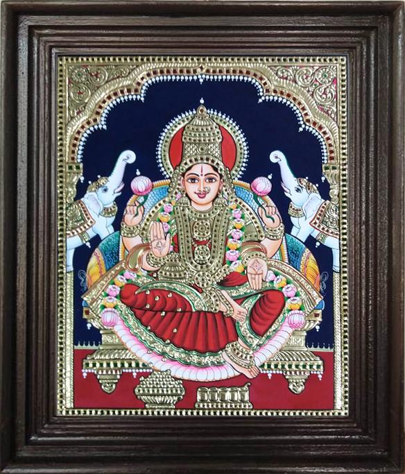 Ghajalakshmi Thanjavur painting online