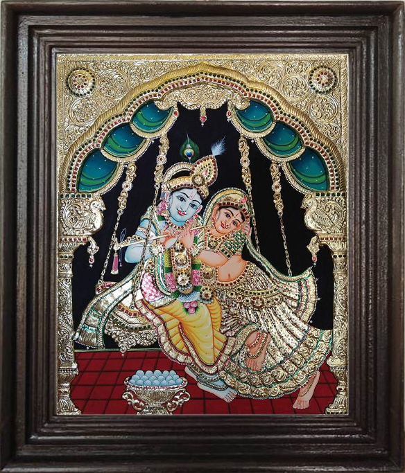Krishna Ratha Tanjore Paintings online