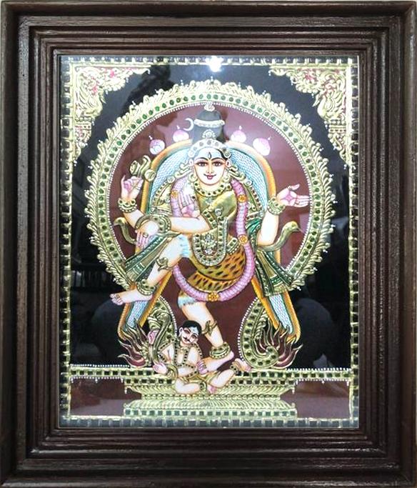 Nadarajar tanjore painting art