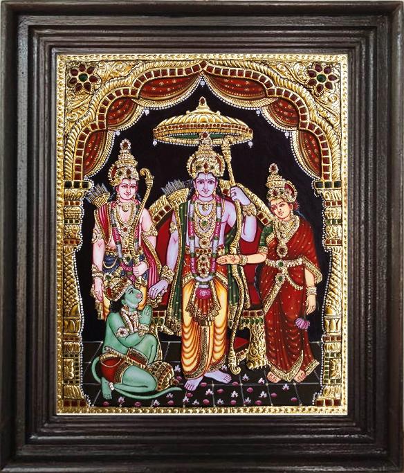 Ramar Pattapisegam tanjore painting