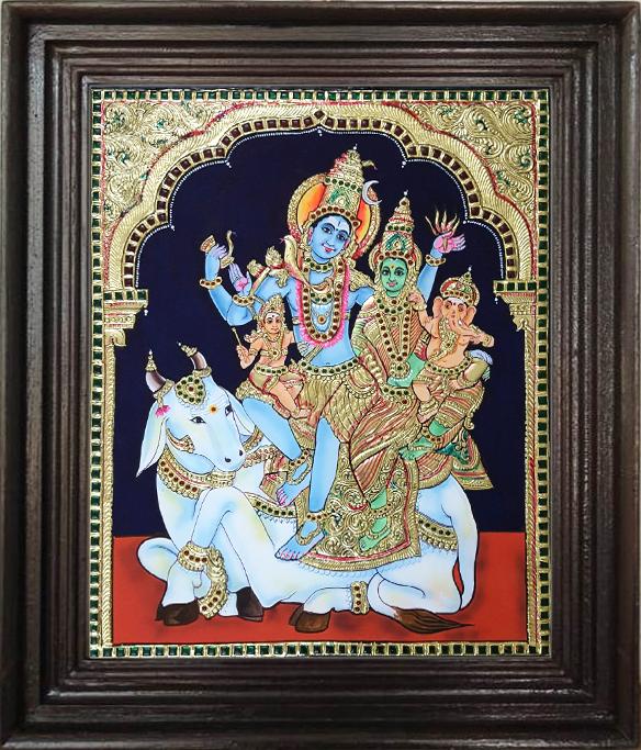 Siva Family - tanjore art manufacturer