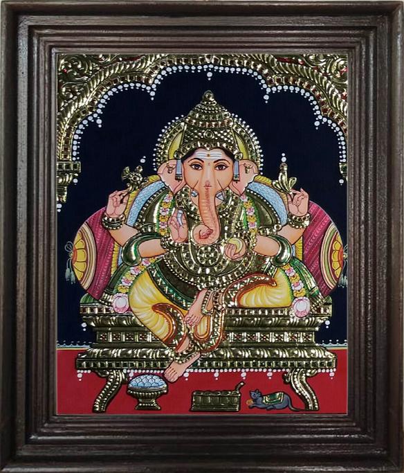 Vinayagar Tanjore painting - Thanjavur Art Academy