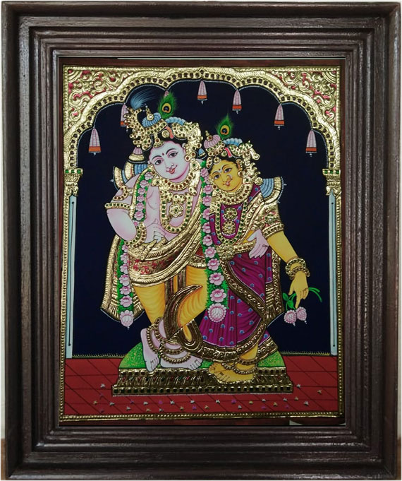 Krishnar-&-Radha--Tanjore-A