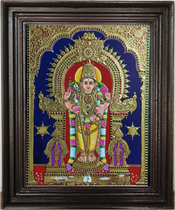 Murugan--Tanjore-Art-Painti