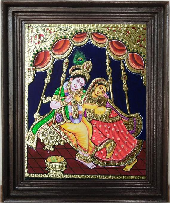 kannan-radha-Tanjore-Art-Pa