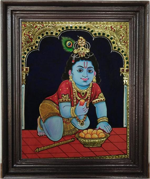 krishnar-tanjore-art-painti