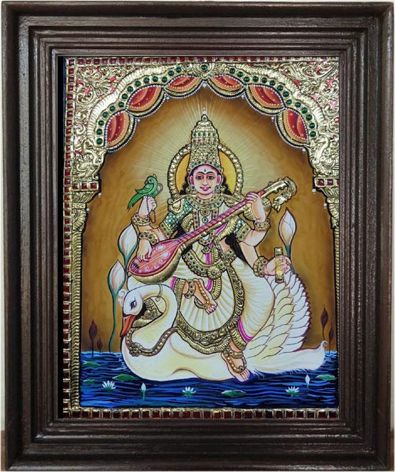 sarawathi-devi-tanjore-art-