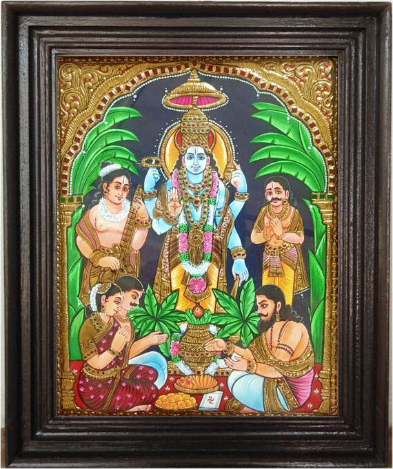 vishnu-Tanjore-Art-Painting